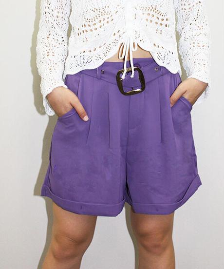 ベルト付ショートパンツ:3色展開