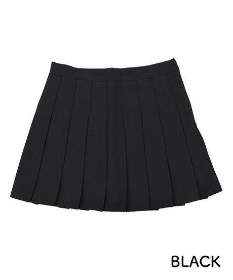 プリーツミニスカート:2色展開