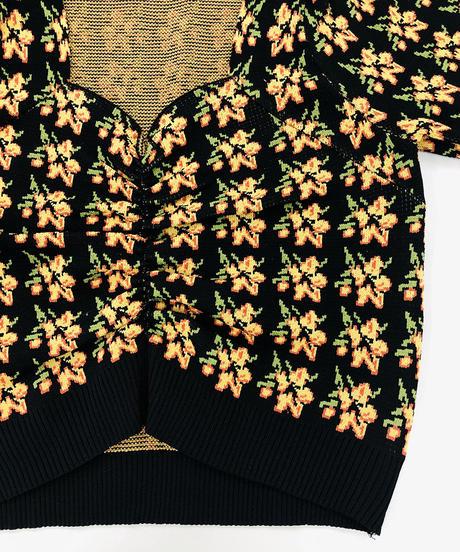 花柄ギャザーニット:3色展開