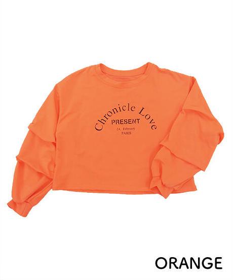 袖コンシャスロゴTシャツ:4色展開