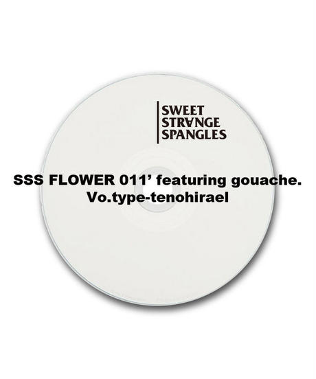SSS FLOWER 011' featuring gouache. Vo.type -てのひらえる