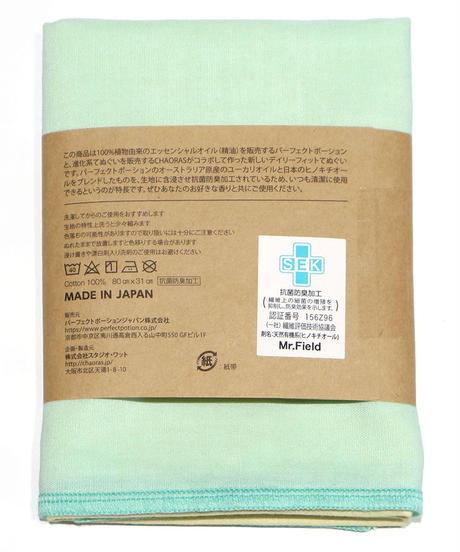 DailyFit てぬぐい 天然抗菌  /   For mam & kids  ライトグリーン