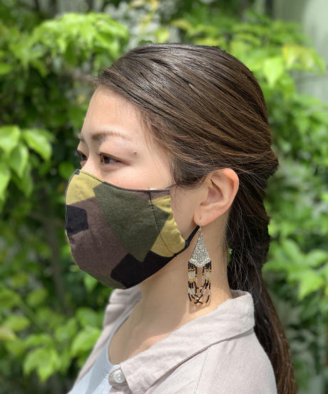 抗菌防臭マスク  スウェーデンカモ  /  (オーガニックコットン )