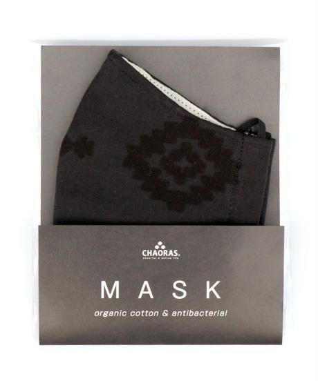 抗菌防臭マスク  ネイティブ  /  BLACK(オーガニックコットン )