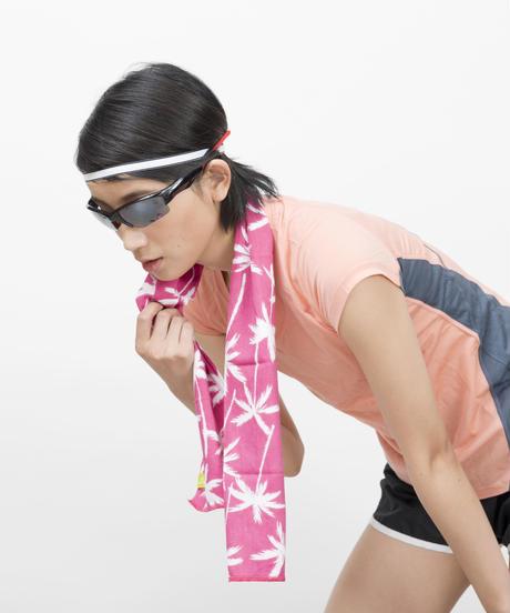 スポーツ手ぬぐい パームツリー / ピンク