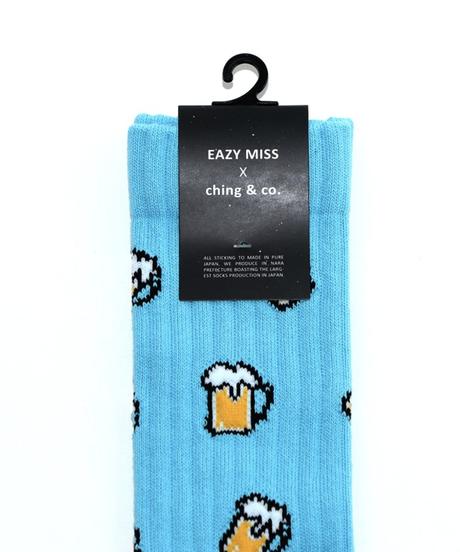 EAZY MISS  Beer socks / Light blue