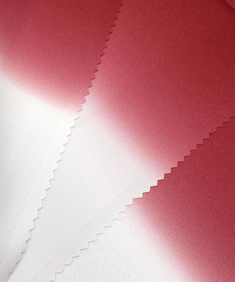 艶帯揚げ 二色暈し 真紅×グレージュ [紅衣オリジナル]