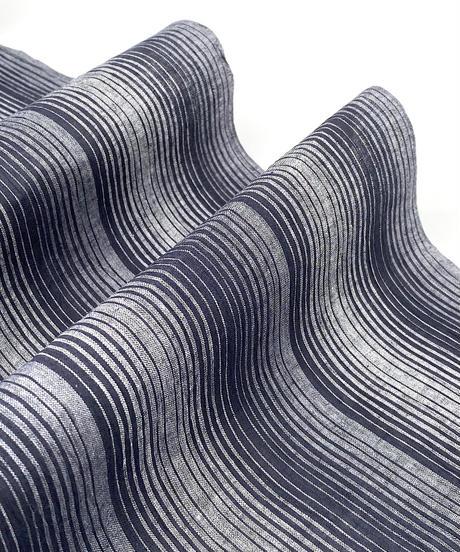 シンプルと個性的、その両方が共存する綿麻着物 ※手縫いマイサイズ仕立て