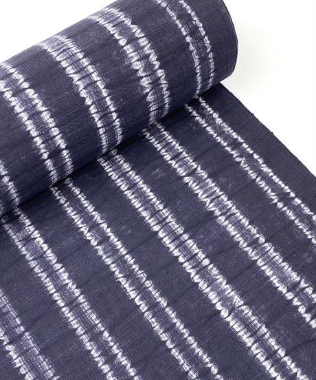 生地厚め クール×クラフト感が共存している絞りの紺色の木綿 ※水通し 手縫いマイサイズ仕立て