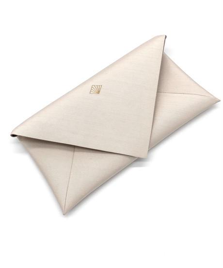 数寄屋袋 /クラッチバッグ 刺繍 薄香色 [紅衣オリジナル]