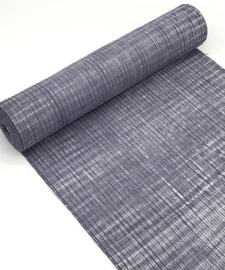 生地厚め絞りの青みグレーの木綿反物 ※水通し マイサイズ手縫い仕立て