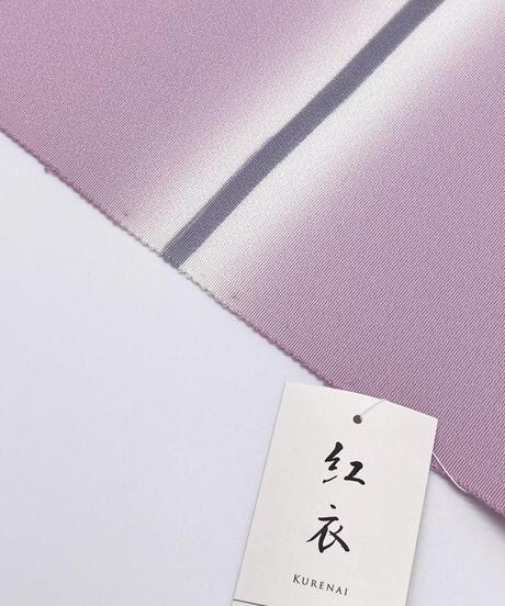 染め九寸名古屋帯 有明 紅藤色×素鼠色 [紅衣オリジナル]