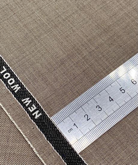 男性のスーツの生地で仕立てる着物 珍しい茶みがかった色合い (手縫い仕立て代込み)