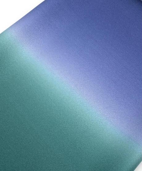マイナーチェンジ!艶帯揚げ 二色暈し 濃緑×青藍色 [紅衣オリジナル]