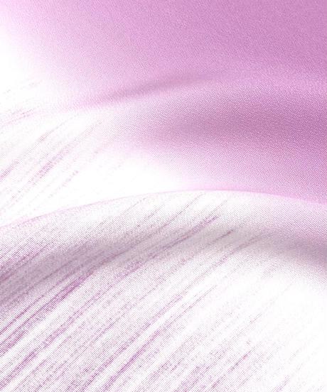 手仕事が美しいシケ引きの帯揚: 木槿色 [紅衣オリジナル]