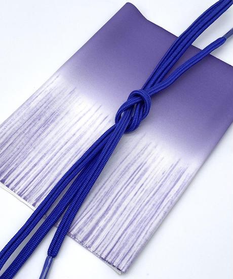 特典付き!クールな色合いなのに柔らかさも感じさせる 帯揚げ竜胆色 帯締め青紫