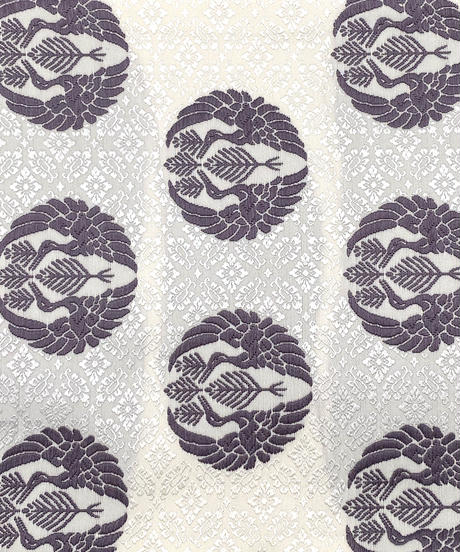 美しい唐織の袋帯 向い鶴丸紋 女将紅子セレクト