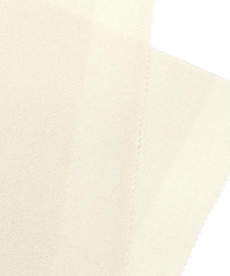 THE シンプル 銀格子の帯揚げ 薄卵色 [紅衣オリジナル]