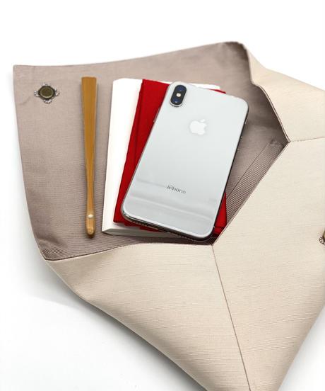 数寄屋袋/クラッチバッグ 刺繍 檸檬 [紅衣オリジナル]