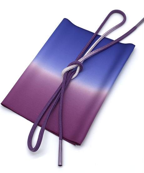 特典付き!品の良い大人なコーディネート 帯揚げ京紫×瑠璃色 帯締め葡萄染×白練