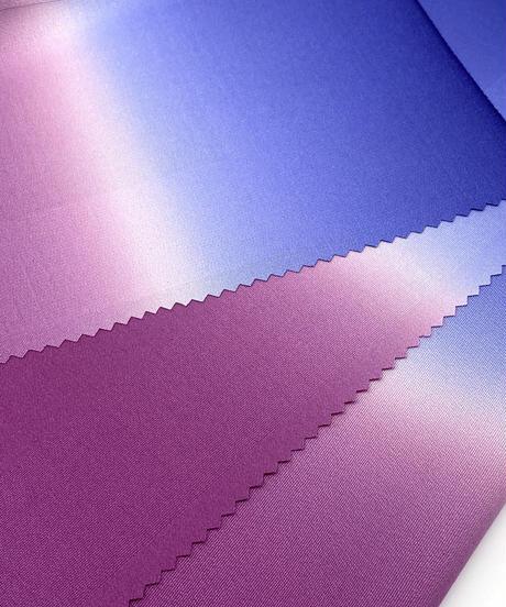 艶帯揚げ 二色暈し 京紫×瑠璃色 [紅衣オリジナル]