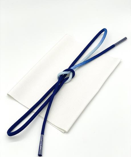 特典付き!清潔感あふれるコーディネートセット 帯揚げ 銀格子 帯締め 濃藍×水色暈し