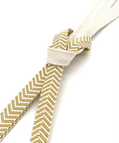 フォーマルにも使えるシャープな帯締め 笹並組金水引 女将紅子セレクト