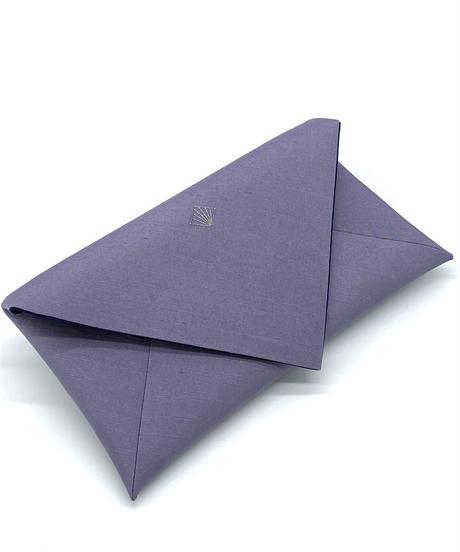 数寄屋袋/クラッチバッグ 刺繍 青鼠  [紅衣オリジナル]
