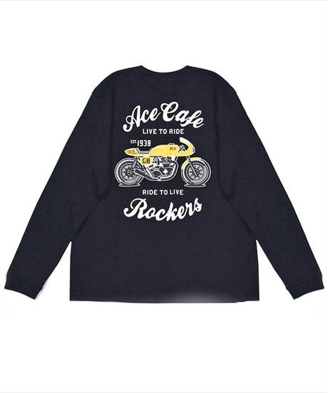 """AC001CL/コットン ロンT """"Live to Ride"""""""