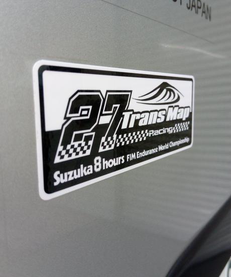 鈴鹿8時間耐久ロードレース TransMapRacing応援グッズ デカール