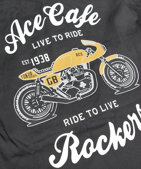 """AC001WH/ワークシャツ """"Live to Ride"""""""