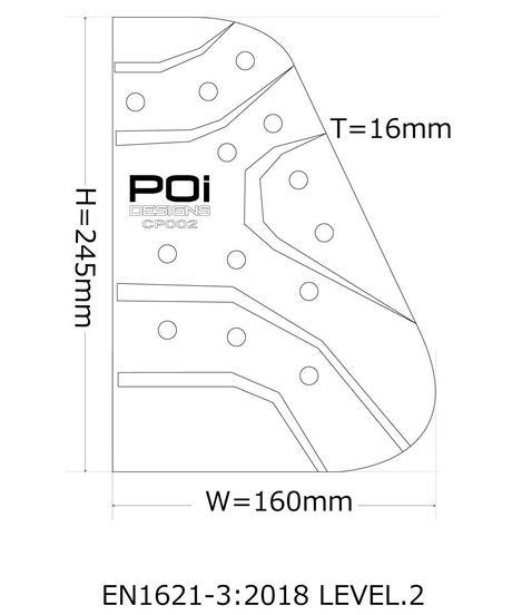 OPC-02-PRO/オプションチェストプロテクター CE (左右セット)