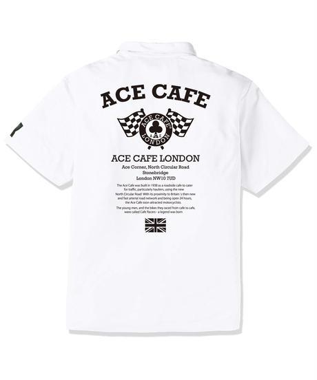 AA004DP / ACE CAFE ドライPOLO FLAG