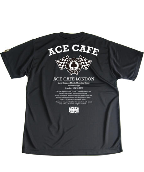 AA011DT /ACE CAFE ドライTシャツ FLAG