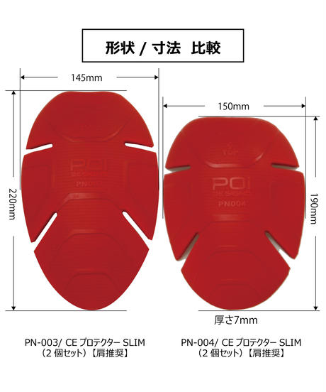 PN-003/ CE  プロテクター  SLIM(2個セット)【肘/ヒザ推奨】