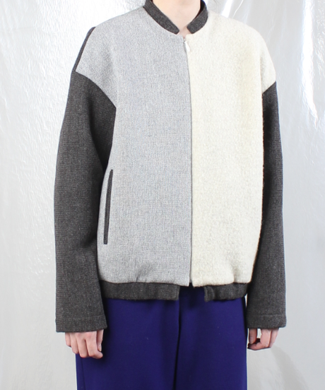 jk-49W  white gray jumper