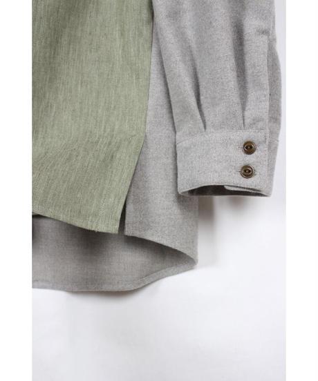 st-55G  green 2tone shirts