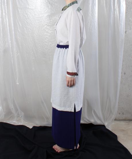 sk-14L  ligth gray blue skirt