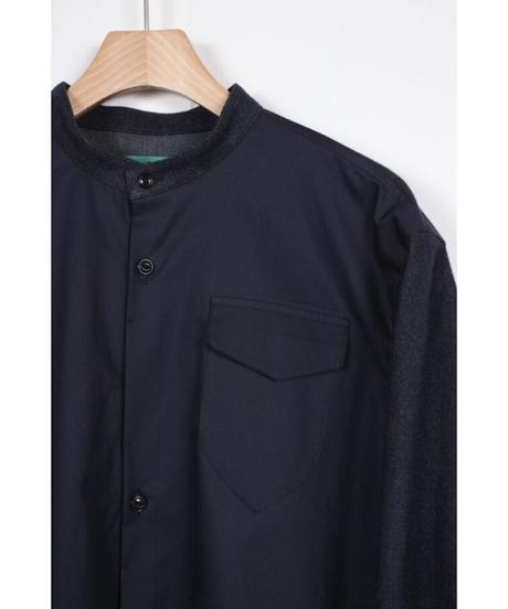 st-55N  navy 2tone shirts
