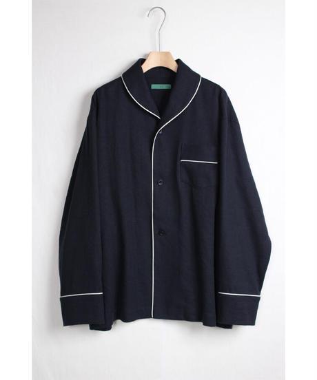 st-48N   navy silk linen shirts