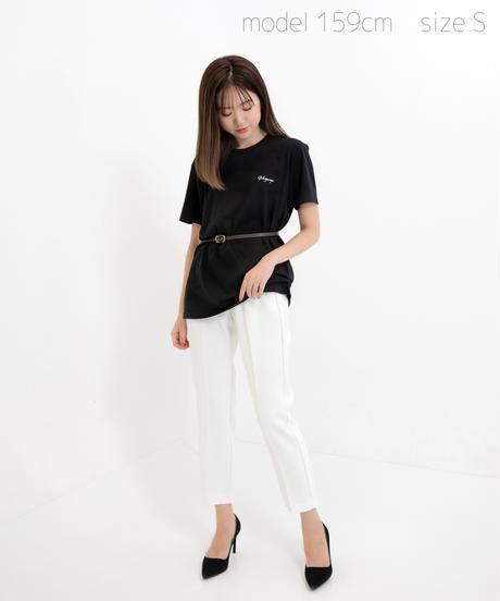 【SAORI】ワンポイント半袖Tシャツ(Gokigenyo) ブラック