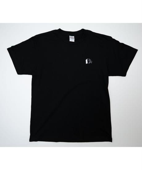 【こばしり】ワンポイント半袖Tシャツ (mark) ブラック