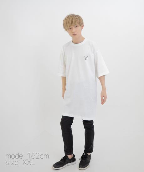【透】ワンポイント半袖Tシャツ (Drops) ホワイト