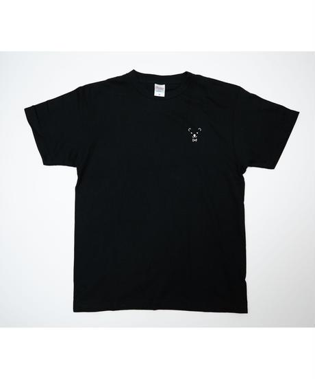 【透】ワンポイント半袖Tシャツ (Drops) ブラック