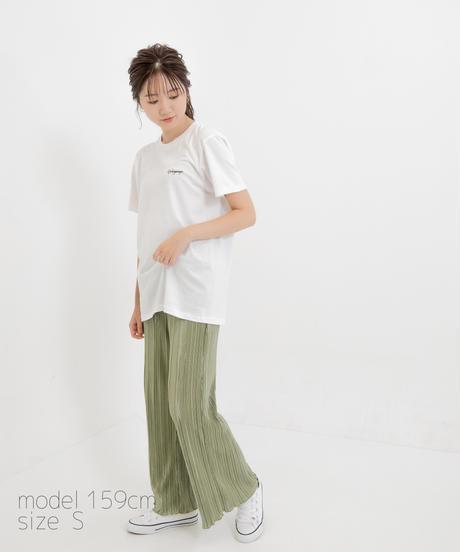 【SAORI】ワンポイント半袖Tシャツ(Gokigenyo) ホワイト