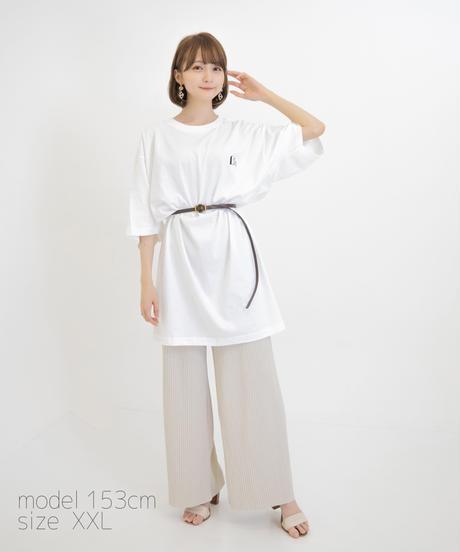 【こばしり】ワンポイント半袖Tシャツ (mark) ホワイト
