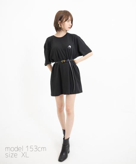【こばしり】ワンポイント半袖Tシャツ (short hair) ブラック