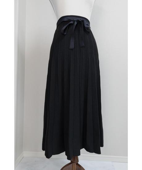 バックリボンニットプリーツスカート