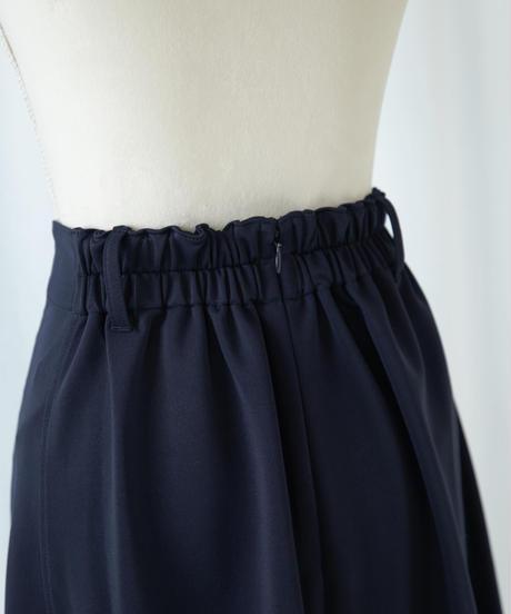 【セットアップ対応】ベルト付ストレッチフレアスカート