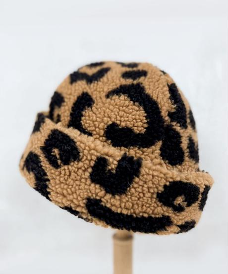 Leopard Boa Shallot Hat